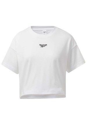 CROPPED T-SHIRT - Print T-shirt - white