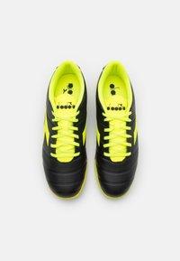 Diadora - PICHICHI 3 ID - Indoor football boots - black/fluo yellow - 3