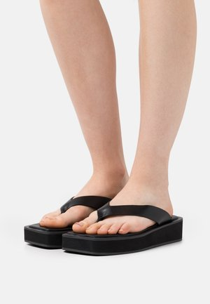 VEGAN GITA  - T-bar sandals - black dark