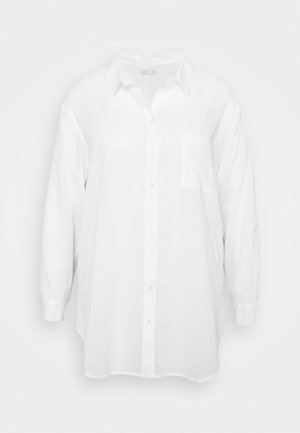 SAVANNAH OVERSIZE SHIRT - Button-down blouse - white