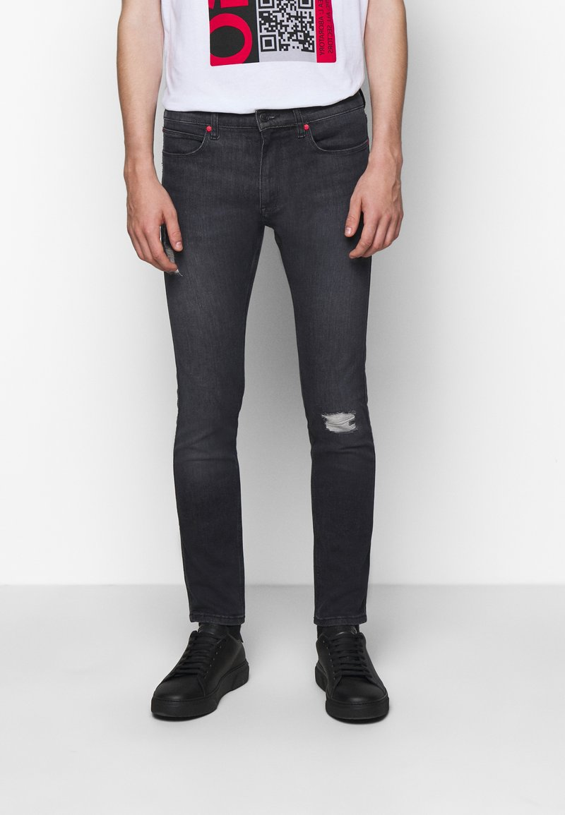 HUGO - Slim fit jeans - charcoal
