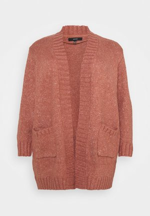 VMKAKA OPEN COATIGAN - Cardigan - old rose melange