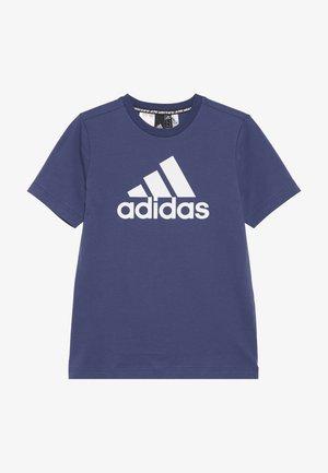 UNISEX - Print T-shirt - dark blue/white