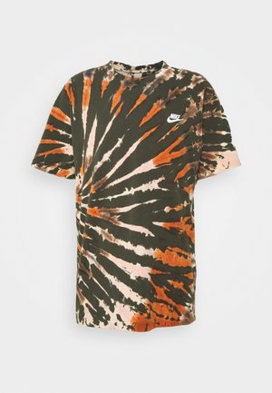 TEE TIE DYE - Print T-shirt - sequoia/light bone/white