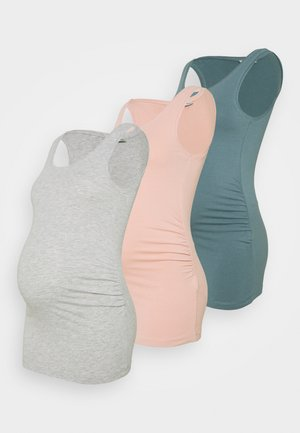 3ER PACK  - Topper - light pink/light green /light grey