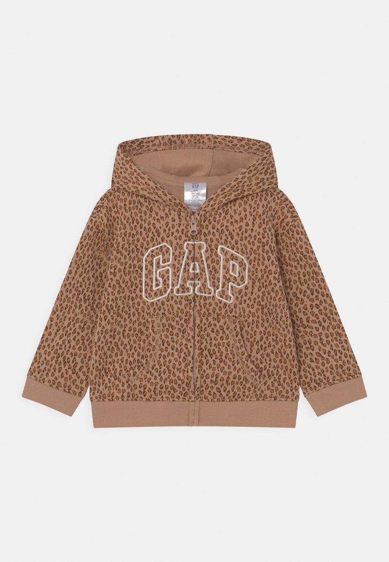 GAP - HOOD  - Zip-up sweatshirt - desert tan
