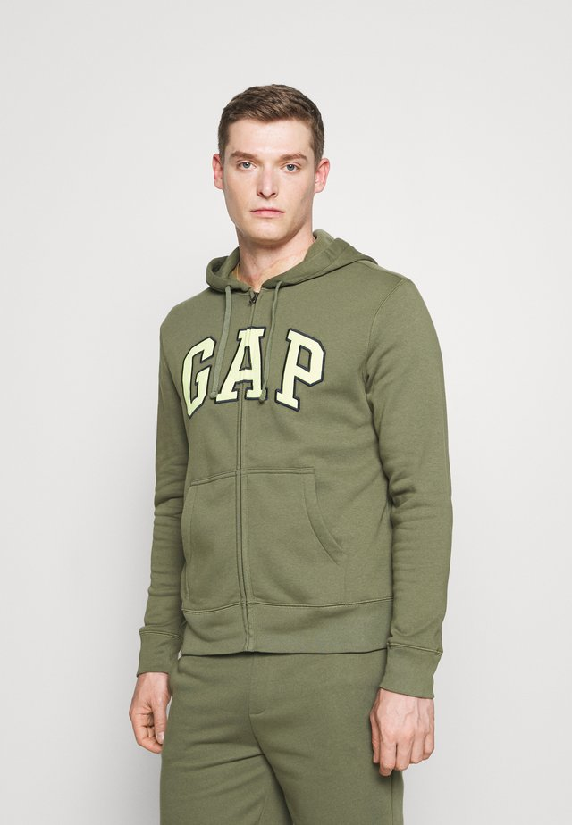 ARCH - Zip-up hoodie - olive cactus