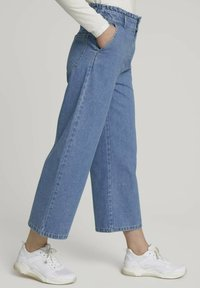 TOM TAILOR DENIM - Flared Jeans - used mid stone blue denim - 3