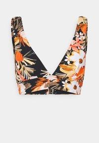 Seafolly - BORA BORA FLORA V NECK CROP - Bikini top - black - 4