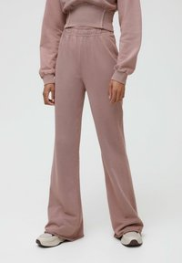 PULL&BEAR - Tracksuit bottoms - mottled pink - 0