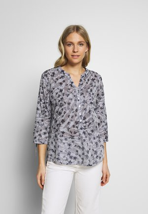 Blouse - navy/ offwhite