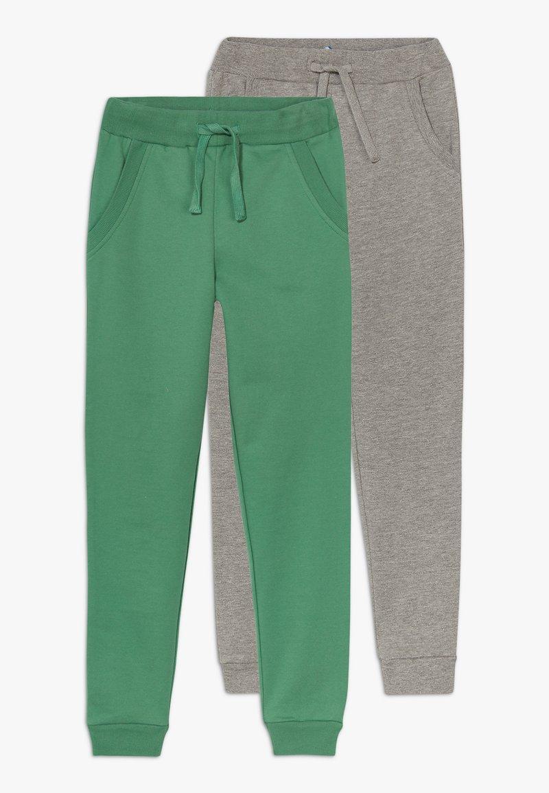 Friboo - 2 PACK - Teplákové kalhoty - light grey melange/bottle green