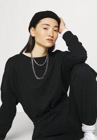 Even&Odd - SWEAT - Oversized comfy - Overall / Jumpsuit /Buksedragter - black - 3