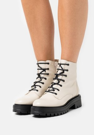 MERY - Lace-up ankle boots - ivoire