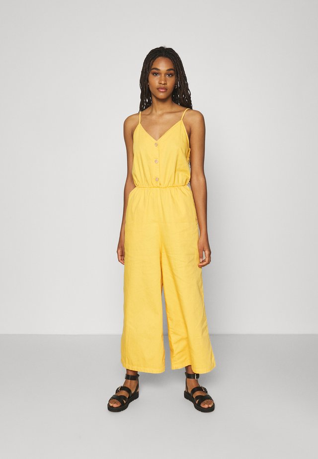 LEJA DUNGAREES - Jumpsuit - yellow bright
