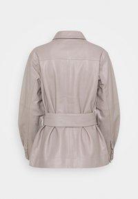 InWear - OANNAIW - Leather jacket - ash grey - 1