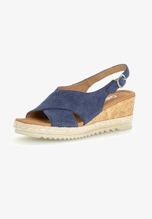 Sandalen met sleehak - river (jute)