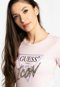 Guess - Print T-shirt - pink - 1
