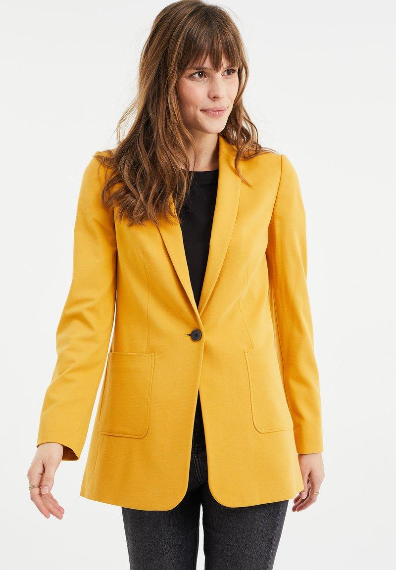 WE Fashion - REGULAR FIT - Blazer - mustard yellow