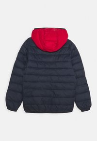 Jack & Jones Junior - JJEMAGIC PUFFER HOOD - Chaqueta de invierno - navy blazer/tango red - 1