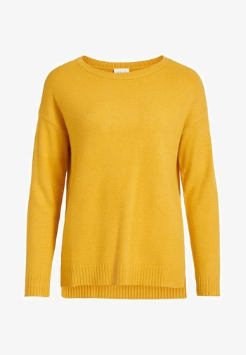 VIRIL HIGH LOW - Jumper - mineral yellow