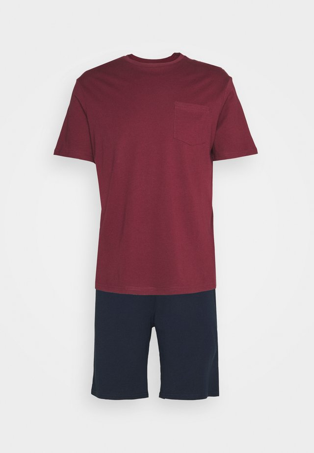SET - Pyjama - bordeaux/dark blue