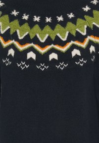 TOM TAILOR DENIM - KNITTED FAIRISLE  - Jumper dress - real navy blue - 2
