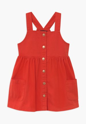 KIDS DENIM PINAFORE - Denim dress - tomate