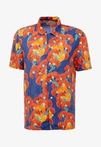 ARVID - Shirt - dark blue/orange/red