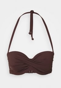 WIRE BANDEAU - Bikini top - brown