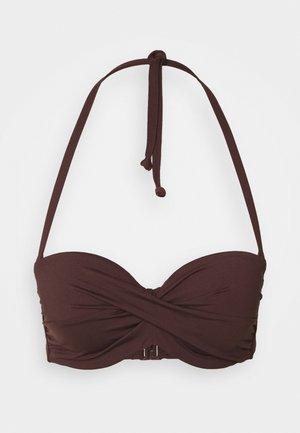 WIRE BANDEAU - Bikini pezzo sopra - brown