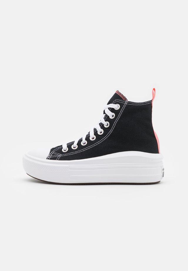 CHUCK TAYLOR ALL STAR MOVE  - Baskets montantes - black/pink salt/white