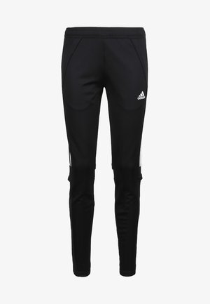 CONDIVO - Tracksuit bottoms - black / white