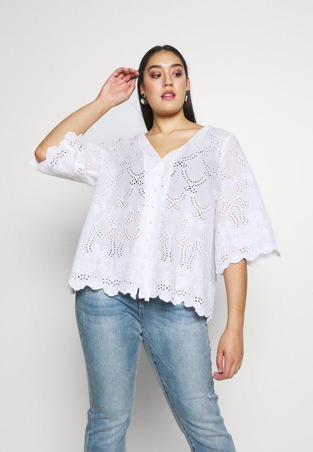 MNELLER BLOUSE - Bluse - whisper white