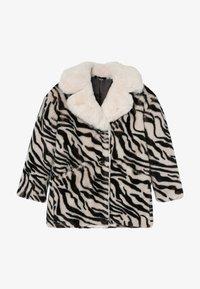 Pinko Up - NOTAIO PELLICCIA ZEBRA - Winter coat - white/black - 2
