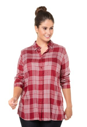 Button-down blouse - deep red