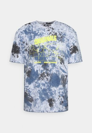 JORAZIEL TEE CREW NECK - Print T-shirt - navy blazer