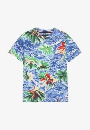 HAWAIIAN TEE - Print T-shirt - blue
