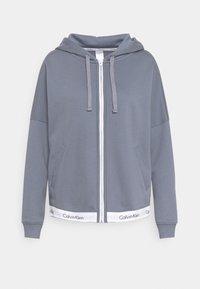 Calvin Klein Underwear - MODERN LOUNGE FULL ZIP HOODIE - veste en sweat zippée - pewter - 4