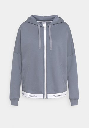 MODERN LOUNGE FULL ZIP HOODIE - Collegetakki - pewter
