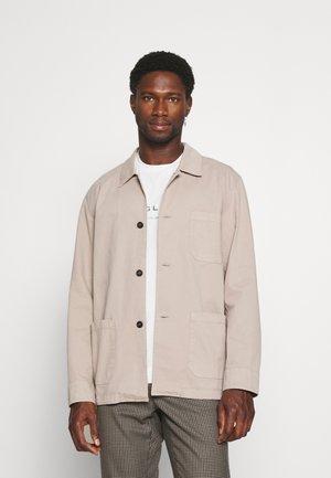 HEAVY OVERSHIRT - Summer jacket - taupe