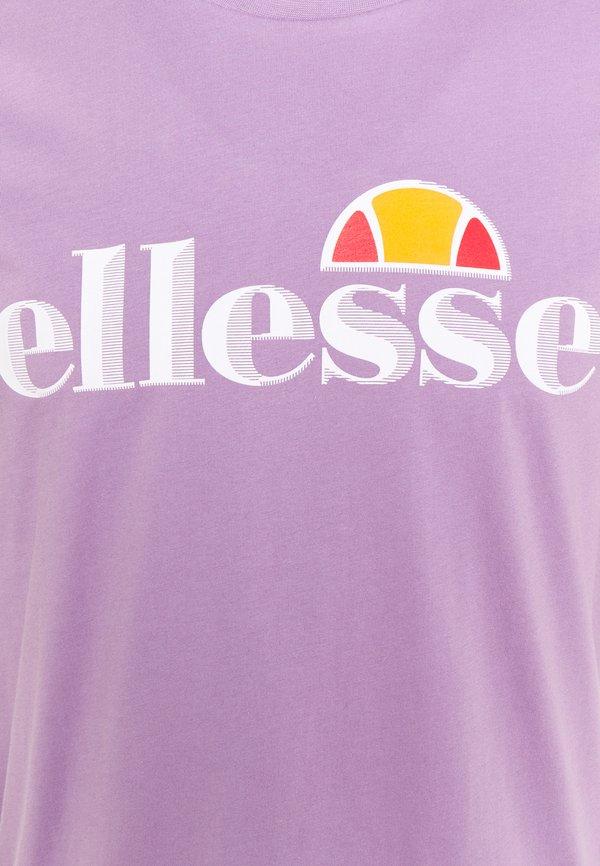 Ellesse HAREBA - T-shirt z nadrukiem - lilac/fioletowy Odzież Męska LZXU