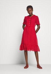 LK Bennett - MALAMI - Day dress - geranium/macadamia - 0