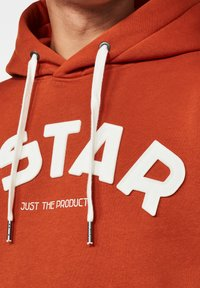 G-Star - VARSITY FELT HOODED LONG SLEEVE - Hoodie - cinnamon orange - 3