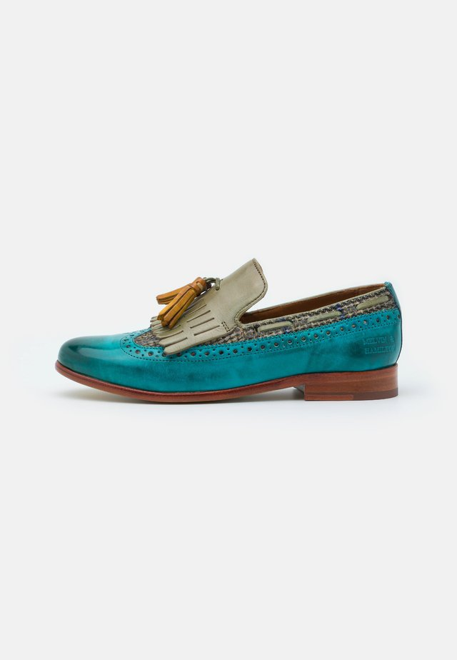 SELINA 3 - Mocassins - turquoise/bambino/new grass/sun/rich tan/natural