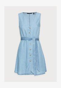 Vero Moda Petite - VMVIVIANA SHORT DRESS PETITE - Denim dress - light blue denim - 4
