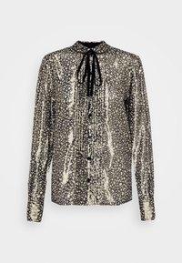 Victoria Beckham - CONTRAST TIE DETAIL  - Button-down blouse - black/gold - 5