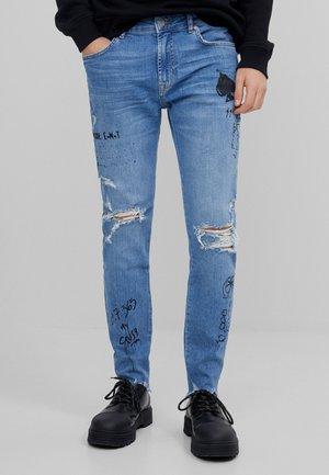 MIT RISSEN - Skinny džíny - blue denim