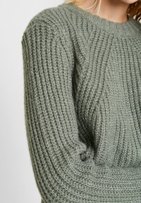 ONLY - ONLFIONA - Jumper - balsam green/white melange - 5