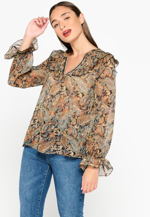 WITH RUFFLES - Blouse - brown